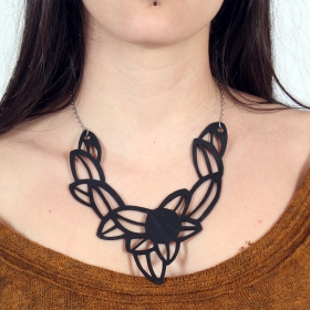 """Iris\"" inner tube necklace"