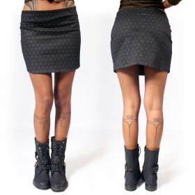 """Ishtar Flower of Life\"" skirt, Black"