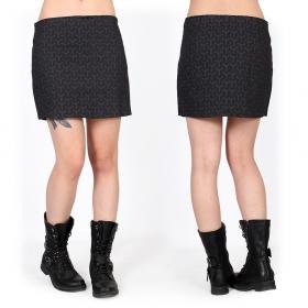"\""Ishtar Kikko\"" skirt, Black with prints"