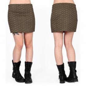 "\""Ishtar Swastika\"" skirt, Khaki green with prints"