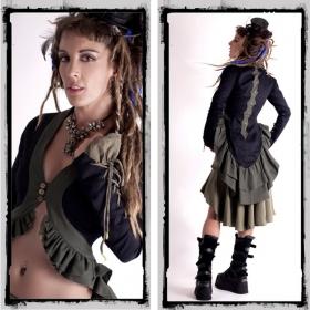"Jacket \\\""cyber goth\\\"" fairy floss, black/kaki"