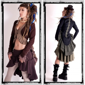 """Jacket \\\""""cyber goth\\\"""" fairy floss, brown"""