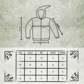 "Jacket  fullprinted sleeves dwarfhood \\\""Anapa\\\"" Orange"