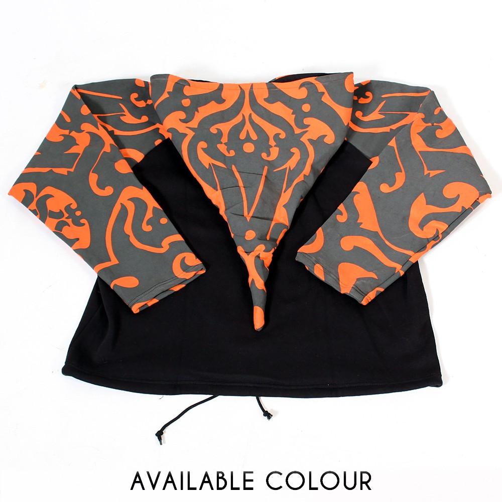 "Jacket  fullprinted sleeves dwarfhood ""Anapa"" Orange"