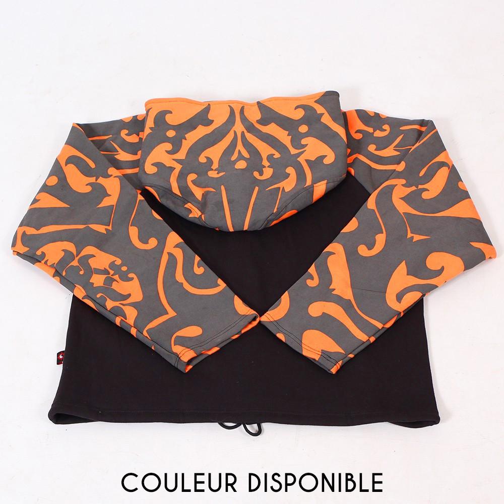 "Jacket  fullprinted sleeves dwarfhood \""Anapa\"" Orange"