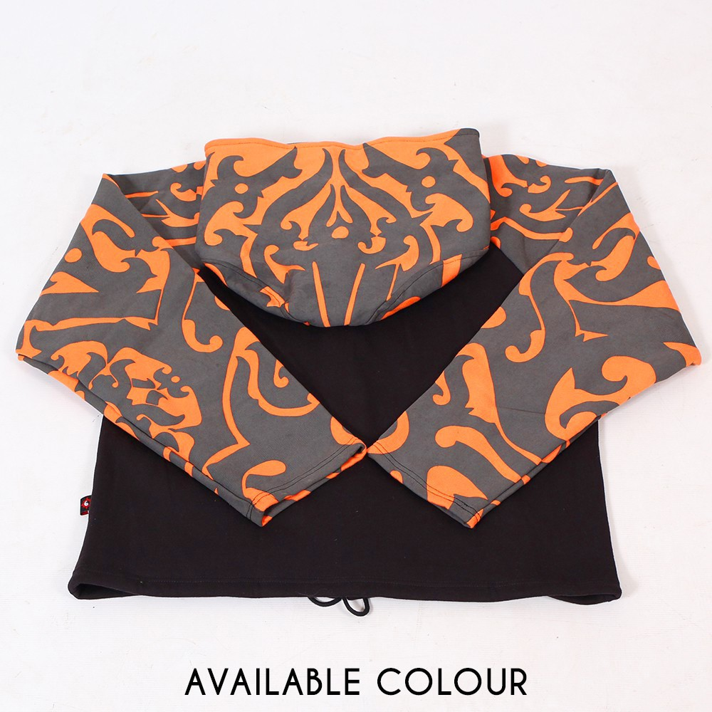 "Jacket  fullprinted sleeves dwarfhood ""Anapa\"" Orange"