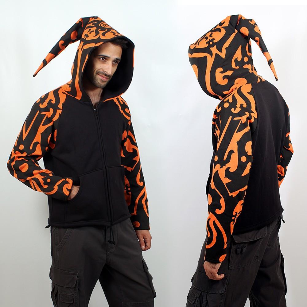 Jacket  fullprinted sleeves dwarfhood orange