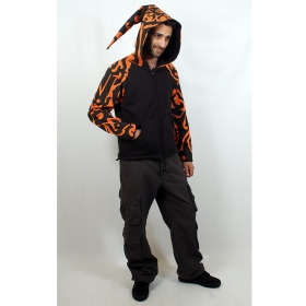 Jacket  fullprinted sleeves dwarfhood orange