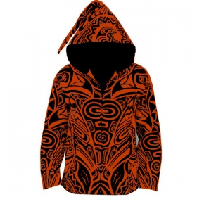 Jacket dwarfhood gadogado, orange-black