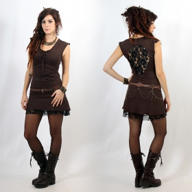 """Jadeite\"" dress, Brown and black"
