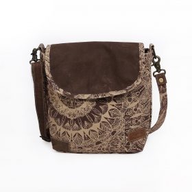 """Jahanara\"" bag, Brown and beige"
