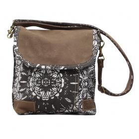 """Jahanara\"" bag, Dark grey and brown"