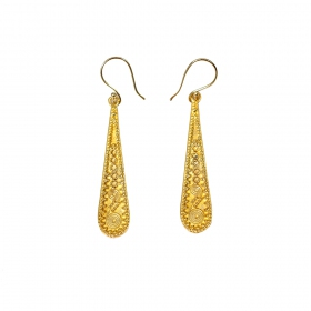 """Jaya\"" earrings, Golden brass"