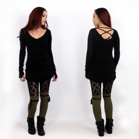 """Jeïkaa\"" Yggdrazil legwarmers, Khaki and black lace"