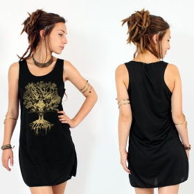 "\""Jivana\"" dress, Black and Gold"