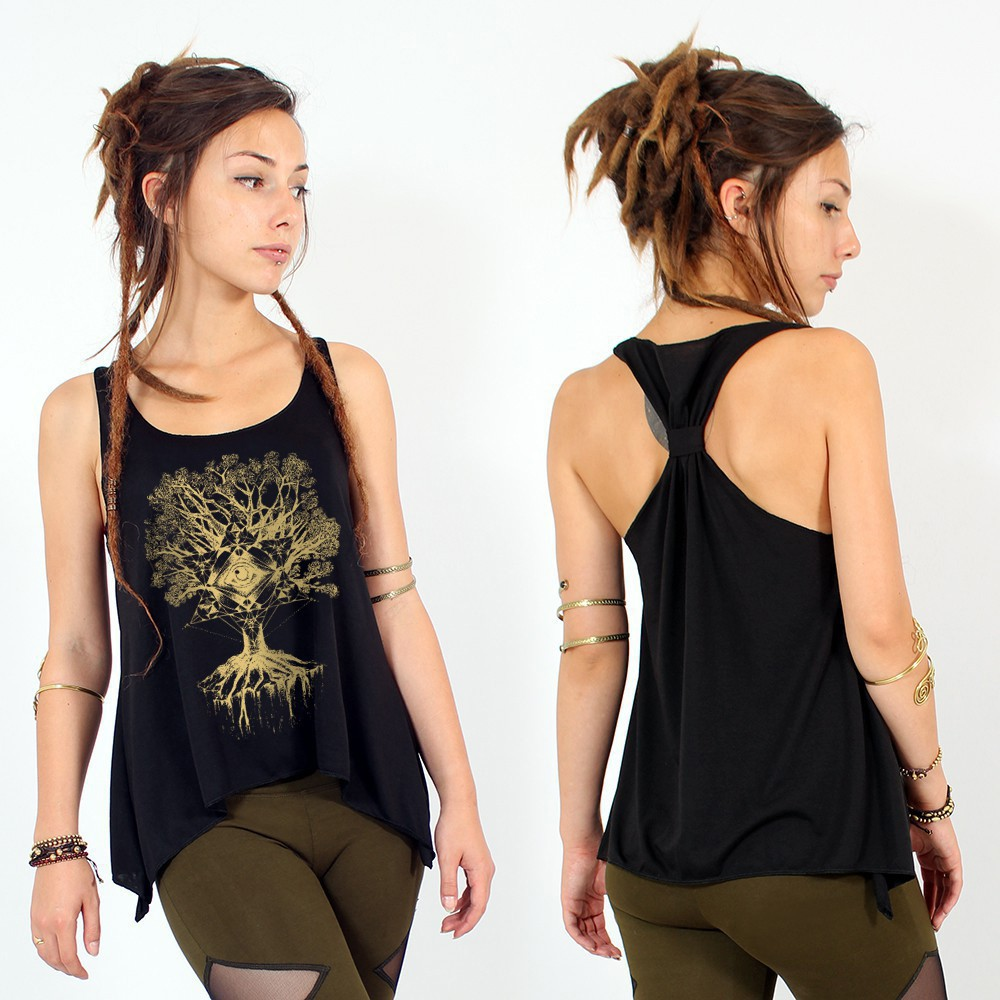 """Jivana\"" knotted tank top"