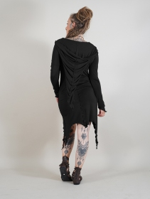 "\""Jowaki\"" asymmetric midi dress, Black"