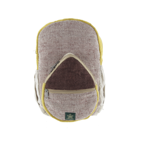 """Jumla\"" backpack, brown and saffron hemp and cotton"