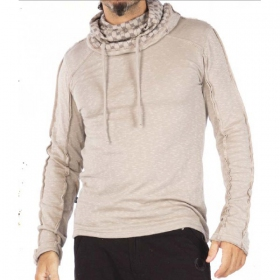 Kafiya hooded jumper, steel