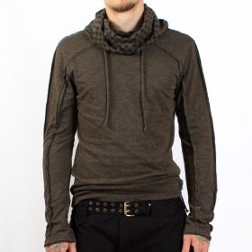 Kafiya hooded jumper by psylo, charcoal