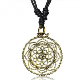 "\""Kairav Lotus\\\"" necklace"