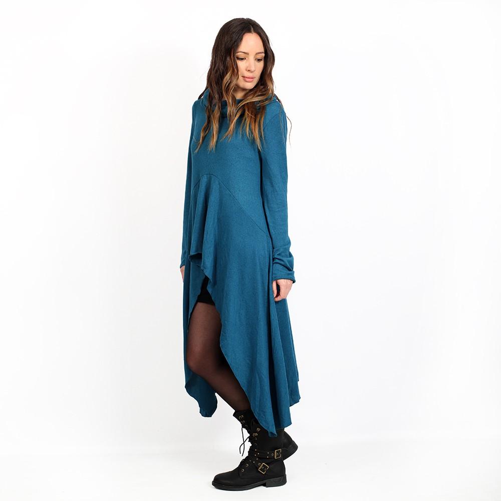 "\""Kajula\"" tunic-dress, Dark teal"