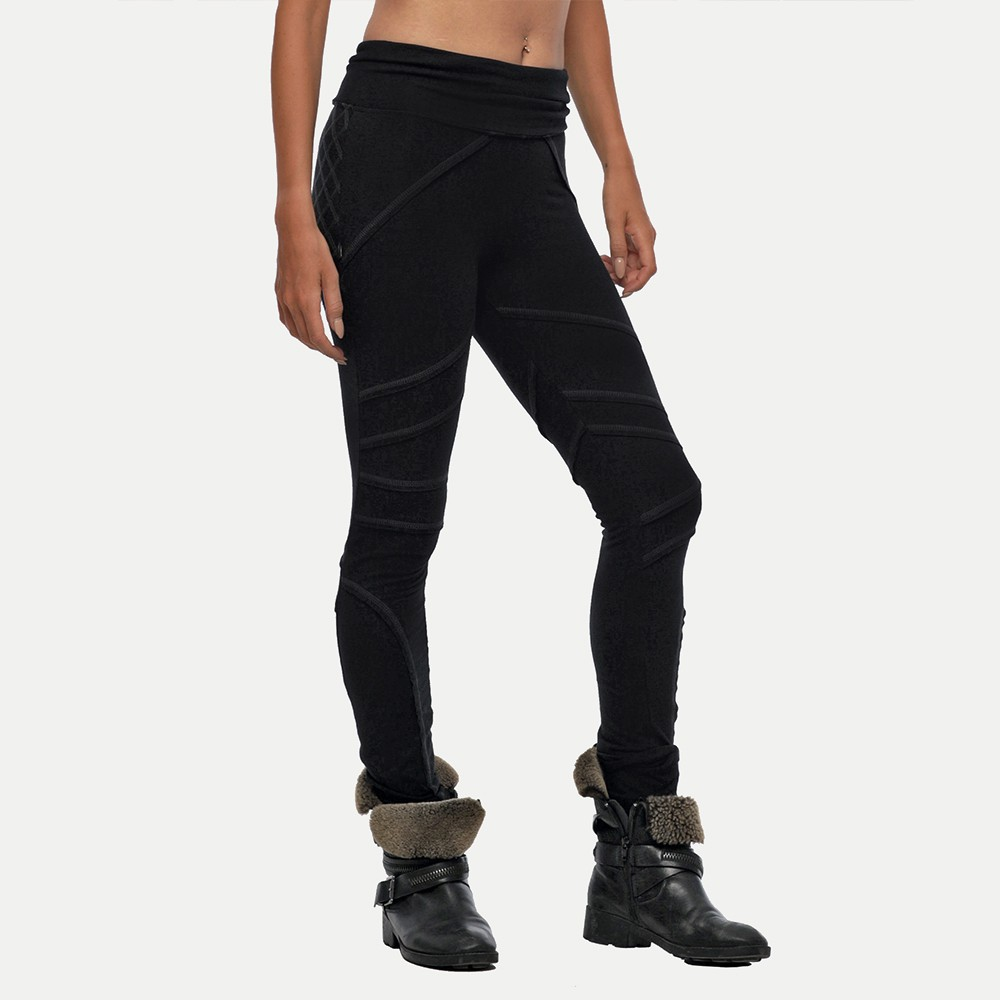 "\""Kali\"" long Leggings, Black"