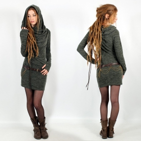 """Kali\"" mid season pullover dress, Lichen green"