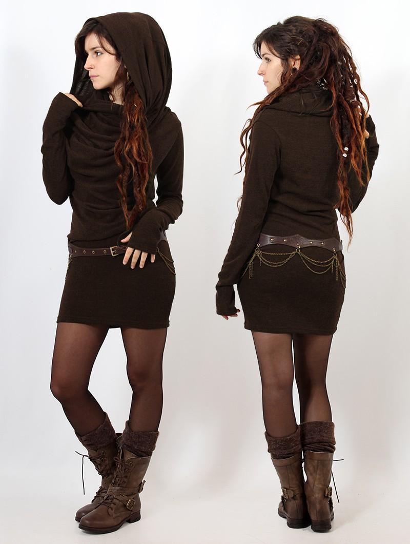 "\""Kali\"" sweater dress, Brown"