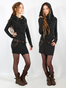 "\""Kali\"" sweater dress, Charcoal"