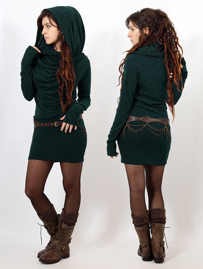 "\""Kali\"" sweater dress, Teal"