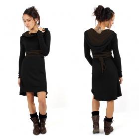 "\""Käliskä\"" dress, Black and Brown"
