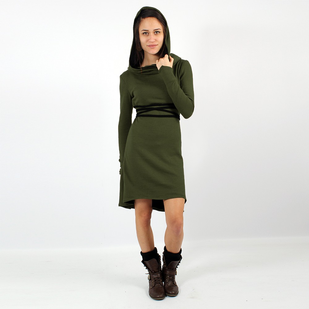 """Käliskä\"" dress, Khaki and Black"