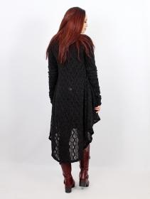"\""Kalyäa\"" crochet cardigan, Black"