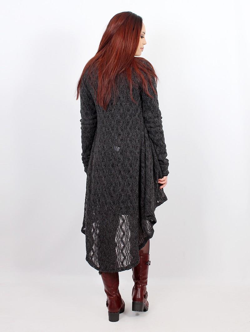 "\""Kalyäa\"" crochet cardigan, Grey"
