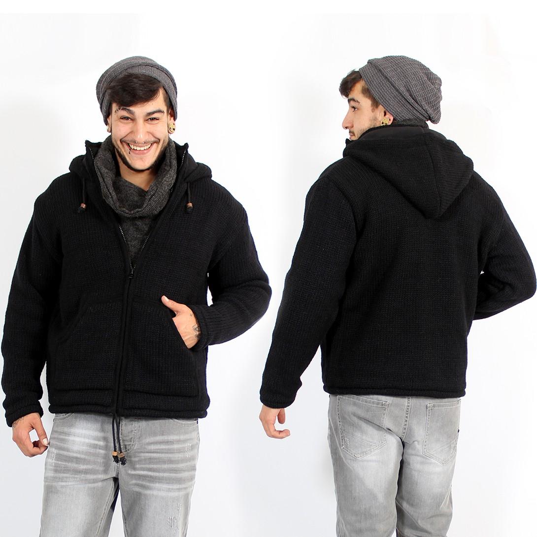 "\""Kamäl\"" zipped hoodie, Black"