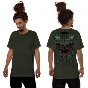 """Kambo\"" t-shirt, Washed khaki green"