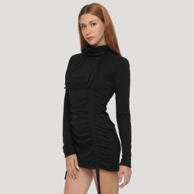 """Kamer\"" long sleeved sweater dress, Black"