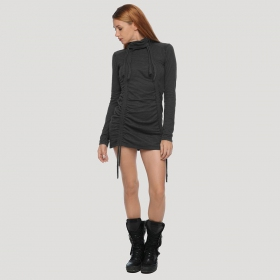 """Kamer\"" long sleeved sweater dress, Charcoal"