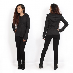 """Kamini Swastika\"" light jacket, Black"