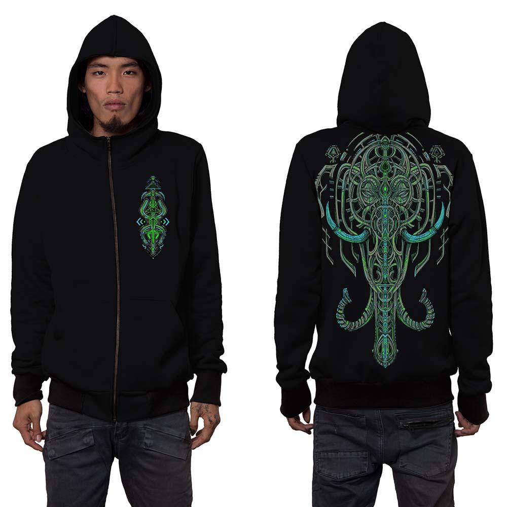 "\""Kandula\"" zipped hoodie, Black"