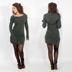 "\""Karmäa\\\"" pullover dress, Lichen green"