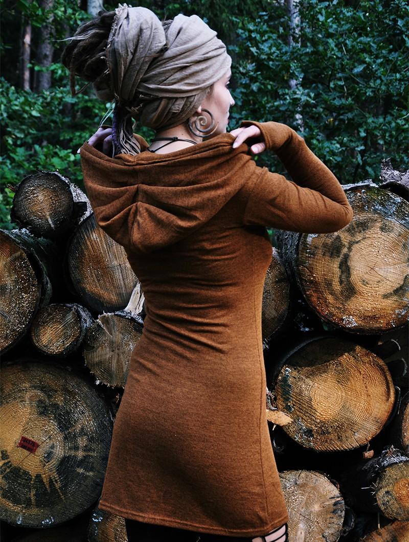 "\""Karmäa\"" sweater dress, Rusty"