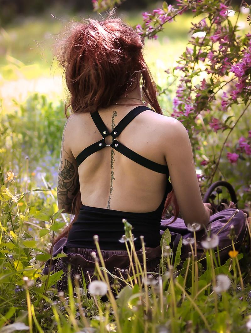 "\""Katniss\"" tank top, Black"