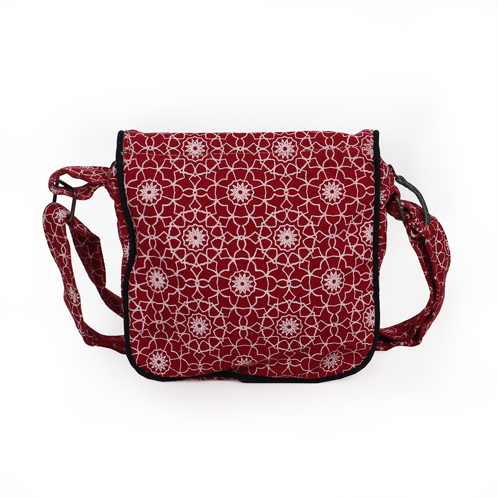 """Kawena\"" shoulder bag, Cotton with patterns"