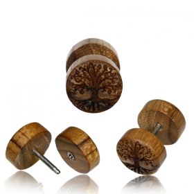 """Khashab Tree of Life\"" stud fake plug"