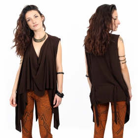 """Kihiko\"" top, Brown"