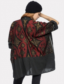 ""\""""Kimono"""" kaftan vest, Grey with red and gold patterns""211|280|?|en|2|8160f1ccdc90927a7fc7cace89e5423d|False|UNLIKELY|0.3102686107158661