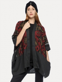 ""\""""Kimono"""" kaftan vest, Grey with red and gold patterns""211|280|?|en|2|4fb4bfc8df25bef48c799a561363e0e9|False|UNLIKELY|0.3044905662536621