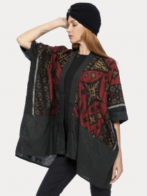 ""\""""Kimono"""" kaftan vest, Grey with red and gold patterns""211|280|?|en|2|0eb678cc951ec322ae14957589b88540|False|UNLIKELY|0.3201828598976135